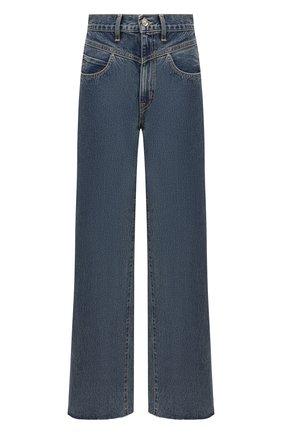 Женские джинсы SLVRLAKE синего цвета, арт. PF21/GRCY707S/B0RN | Фото 1 (Материал внешний: Хлопок; Длина (брюки, джинсы): Стандартные; Стили: Кэжуэл; Кросс-КТ: Деним; Силуэт Ж (брюки и джинсы): Расклешенные)