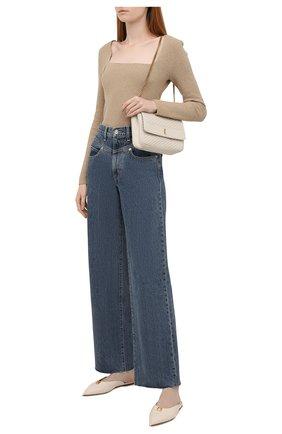 Женские джинсы SLVRLAKE синего цвета, арт. PF21/GRCY707S/B0RN | Фото 2 (Материал внешний: Хлопок; Длина (брюки, джинсы): Стандартные; Стили: Кэжуэл; Кросс-КТ: Деним; Силуэт Ж (брюки и джинсы): Расклешенные)
