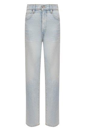 Женские джинсы SLVRLAKE голубого цвета, арт. PF21/DAKJ707S/LVSG | Фото 1 (Материал внешний: Хлопок; Длина (брюки, джинсы): Стандартные; Стили: Кэжуэл; Кросс-КТ: Деним; Силуэт Ж (брюки и джинсы): Прямые)