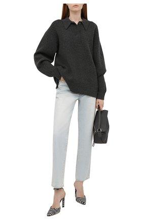 Женские джинсы SLVRLAKE голубого цвета, арт. PF21/DAKJ707S/LVSG | Фото 2 (Материал внешний: Хлопок; Длина (брюки, джинсы): Стандартные; Стили: Кэжуэл; Кросс-КТ: Деним; Силуэт Ж (брюки и джинсы): Прямые)