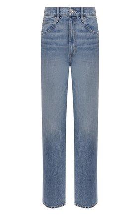 Женские джинсы SLVRLAKE синего цвета, арт. PF21/DAKJ707S/G00T | Фото 1 (Материал внешний: Хлопок; Длина (брюки, джинсы): Стандартные; Стили: Кэжуэл; Кросс-КТ: Деним; Силуэт Ж (брюки и джинсы): Прямые)