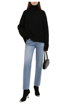 Женские джинсы SLVRLAKE синего цвета, арт. PF21/DAKJ707S/G00T | Фото 2 (Материал внешний: Хлопок; Длина (брюки, джинсы): Стандартные; Стили: Кэжуэл; Кросс-КТ: Деним; Силуэт Ж (брюки и джинсы): Прямые)