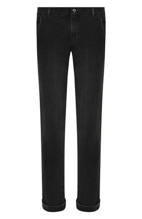 Мужские джинсы с отделкой из кожи аллигатора ZILLI темно-серого цвета, арт. MCW-00080-DBLC1/S001/AMIS   Фото 1 (Длина (брюки, джинсы): Стандартные; Материал внешний: Хлопок; Кросс-КТ: Деним; Силуэт М (брюки): Прямые; Детали: Потертости; Стили: Кэжуэл)