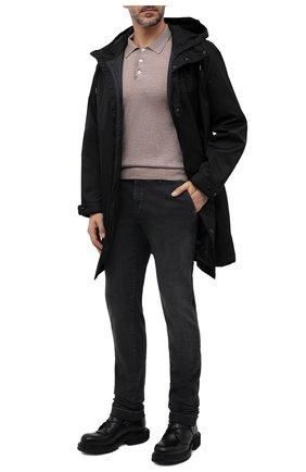 Мужские джинсы с отделкой из кожи аллигатора ZILLI темно-серого цвета, арт. MCW-00080-DBLC1/S001/AMIS   Фото 2 (Длина (брюки, джинсы): Стандартные; Материал внешний: Хлопок; Кросс-КТ: Деним; Силуэт М (брюки): Прямые; Детали: Потертости; Стили: Кэжуэл)