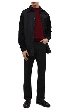 Мужские кожаные кеды SANTONI черного цвета, арт. MBCD21574LNANMXDN01 | Фото 2 (Подошва: Массивная; Материал внутренний: Натуральная кожа)
