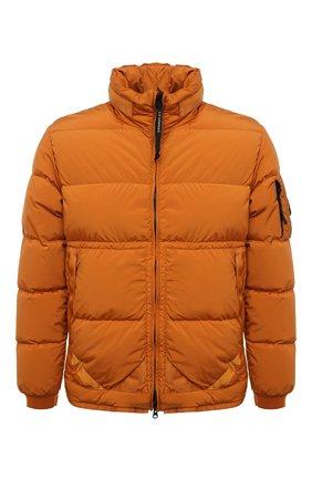 Мужская пуховая куртка C.P. COMPANY оранжевого цвета, арт. 11CM0W170A-005864G | Фото 1 (Материал подклада: Синтетический материал; Материал внешний: Синтетический материал; Материал утеплителя: Пух и перо; Мужское Кросс-КТ: пуховик-короткий; Кросс-КТ: Куртка; Рукава: Длинные; Длина (верхняя одежда): Короткие; Стили: Спорт-шик)
