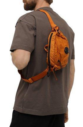 Мужская текстильная поясная сумка C.P. COMPANY оранжевого цвета, арт. 11CMAC112A-005269G | Фото 2 (Материал: Текстиль)