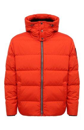 Мужская пуховая куртка MOOSE KNUCKLES оранжевого цвета, арт. M31MJ148 | Фото 1 (Рукава: Длинные; Материал внешний: Синтетический материал; Материал подклада: Синтетический материал; Длина (верхняя одежда): Короткие; Материал утеплителя: Пух и перо; Мужское Кросс-КТ: пуховик-короткий; Кросс-КТ: Куртка; Стили: Спорт-шик)