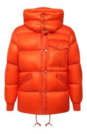 Мужская пуховая куртка lamentin MONCLER оранжевого цвета, арт. G2-091-1A001-61-539WF | Фото 1 (Рукава: Длинные; Материал утеплителя: Пух и перо; Длина (верхняя одежда): Короткие; Материал подклада: Синтетический материал; Материал внешний: Синтетический материал; Мужское Кросс-КТ: пуховик-короткий; Кросс-КТ: Куртка; Стили: Спорт-шик)
