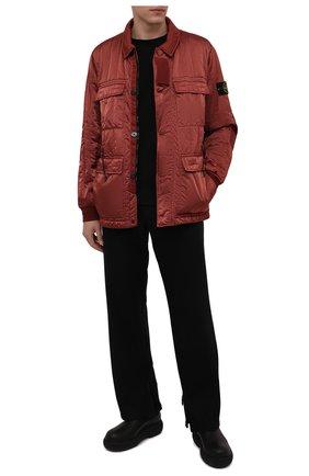 Мужская утепленная куртка STONE ISLAND красного цвета, арт. 751543521   Фото 2 (Рукава: Длинные; Материал внешний: Синтетический материал; Материал подклада: Синтетический материал; Кросс-КТ: Куртка; Мужское Кросс-КТ: утепленные куртки; Стили: Кэжуэл; Длина (верхняя одежда): До середины бедра)