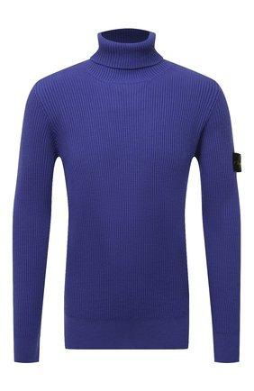 Мужской шерстяной свитер STONE ISLAND фиолетового цвета, арт. 7515525C2   Фото 1 (Материал внешний: Шерсть; Мужское Кросс-КТ: Свитер-одежда; Длина (для топов): Стандартные; Рукава: Длинные; Стили: Кэжуэл; Принт: Без принта)