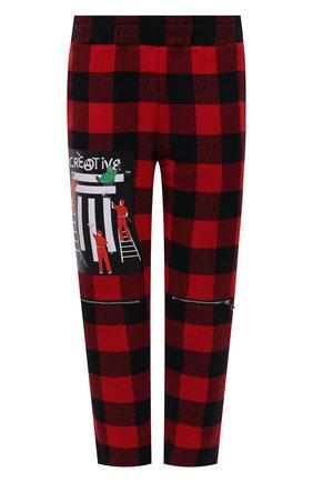 Мужские брюки DIEGO VENTURINO красного цвета, арт. FW21-DV PNT FZ-REDECF   Фото 1 (Длина (брюки, джинсы): Укороченные; Материал внешний: Синтетический материал; Случай: Повседневный; Стили: Гранж)