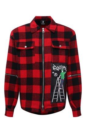 Мужская куртка DIEGO VENTURINO красного цвета, арт. FW21-DV CMC FZ-REDECF   Фото 1 (Материал внешний: Синтетический материал; Кросс-КТ: Куртка, Ветровка; Рукава: Длинные; Длина (верхняя одежда): Короткие; Стили: Гранж)