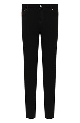 Мужские джинсы KITON черного цвета, арт. UPNJS/J0359A   Фото 1 (Материал внешний: Хлопок; Кросс-КТ: Деним; Силуэт М (брюки): Прямые; Стили: Кэжуэл; Длина (брюки, джинсы): Стандартные)