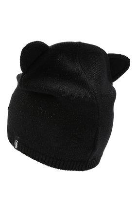 Детского хлопковая шапка KARL LAGERFELD KIDS черного цвета, арт. Z11034 | Фото 2 (Материал: Синтетический материал, Хлопок, Текстиль)