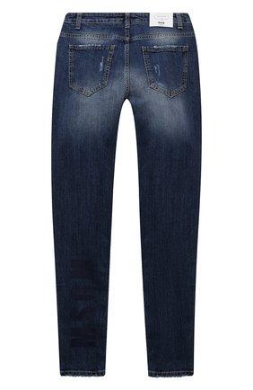 Детские джинсы MSGM KIDS синего цвета, арт. MS027937   Фото 2 (Материал внешний: Хлопок)