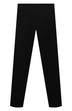 Детские хлопковые леггинсы MOSCHINO черного цвета, арт. HDP04B/LBA11/10A-14A   Фото 2 (Материал внешний: Хлопок; Девочки Кросс-КТ: Брюки-спорт)