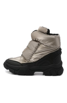 Детские утепленные ботинки JOG DOG золотого цвета, арт. 21011R/EC0STEP FLASH/29-35   Фото 2 (Материал внутренний: Текстиль; Материал внешний: Экокожа, Текстиль)