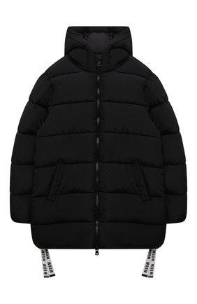 Детского утепленная куртка MSGM KIDS черного цвета, арт. MS027712   Фото 1 (Рукава: Длинные; Материал подклада: Синтетический материал; Материал внешний: Синтетический материал; Кросс-КТ: Сезон: зима)