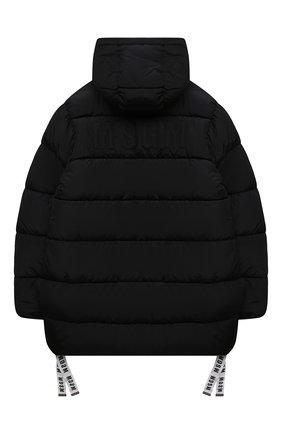 Детского утепленная куртка MSGM KIDS черного цвета, арт. MS027712   Фото 2 (Рукава: Длинные; Материал подклада: Синтетический материал; Материал внешний: Синтетический материал; Кросс-КТ: Сезон: зима)