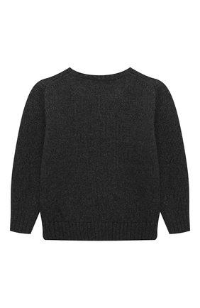 Детский шерстяной пуловер POLO RALPH LAUREN серого цвета, арт. 322857438 | Фото 2 (Материал внешний: Шерсть; Рукава: Длинные; Мальчики Кросс-КТ: Пуловер-одежда)