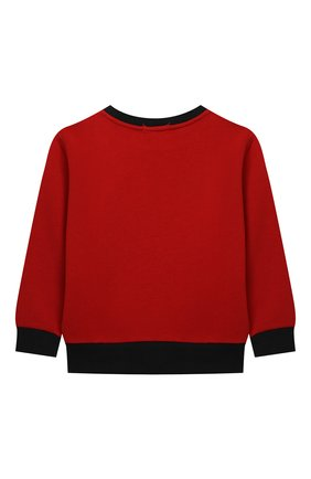 Детский хлопковый свитшот POLO RALPH LAUREN красного цвета, арт. 322853820 | Фото 2 (Материал внешний: Хлопок; Рукава: Длинные; Мальчики Кросс-КТ: Толстовка-одежда)