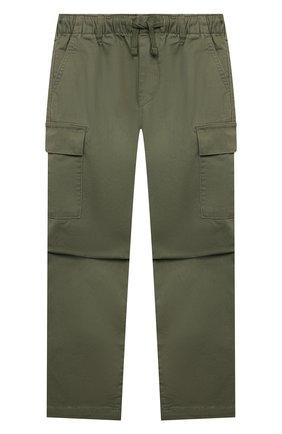 Детские хлопковые брюки POLO RALPH LAUREN хаки цвета, арт. 322846928   Фото 1 (Материал внешний: Хлопок; Мальчики Кросс-КТ: Брюки-одежда)