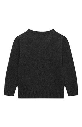 Детский шерстяной пуловер POLO RALPH LAUREN серого цвета, арт. 321857438 | Фото 2 (Рукава: Длинные; Материал внешний: Шерсть; Мальчики Кросс-КТ: Пуловер-одежда)