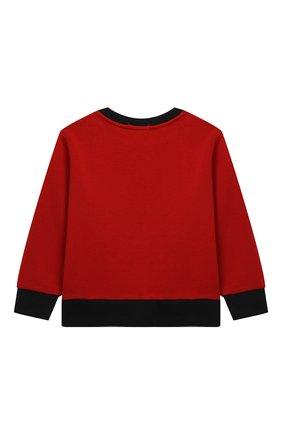 Детский хлопковый свитшот POLO RALPH LAUREN красного цвета, арт. 321853820 | Фото 2 (Рукава: Длинные; Материал внешний: Хлопок; Мальчики Кросс-КТ: Толстовка-одежда)