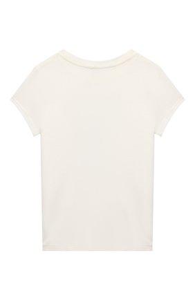 Детская хлопковая футболка POLO RALPH LAUREN кремвого цвета, арт. 311853363 | Фото 2 (Материал внешний: Хлопок; Рукава: Короткие)