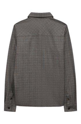 Детская шерстяная рубашка LORO PIANA серого цвета, арт. FAL7481 | Фото 2 (Рукава: Длинные; Материал внешний: Шерсть; Случай: Повседневный)