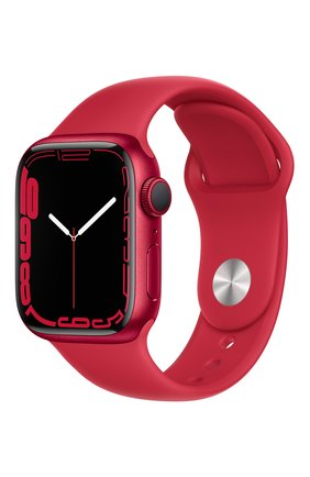 Смарт-часы apple watch series 7 gps 41mm (product)red aluminium case with (product)red sport band APPLE  (product)red цвета, арт. MKN23RU/A   Фото 1