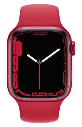 Смарт-часы apple watch series 7 gps 41mm (product)red aluminium case with (product)red sport band APPLE  (product)red цвета, арт. MKN23RU/A   Фото 2
