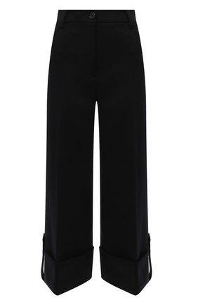 Женские шерстяные брюки JW ANDERSON черного цвета, арт. TR0156 PG0659   Фото 1 (Материал внешний: Шерсть; Длина (брюки, джинсы): Стандартные; Стили: Романтичный; Женское Кросс-КТ: Брюки-одежда; Силуэт Ж (брюки и джинсы): Широкие)