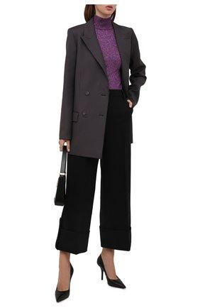 Женские шерстяные брюки JW ANDERSON черного цвета, арт. TR0156 PG0659   Фото 2 (Материал внешний: Шерсть; Длина (брюки, джинсы): Стандартные; Стили: Романтичный; Женское Кросс-КТ: Брюки-одежда; Силуэт Ж (брюки и джинсы): Широкие)
