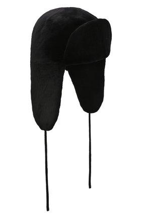 Мужская шапка-ушанка из меха норки KUSSENKOVV черного цвета, арт. 321510002241 | Фото 1 (Материал: Натуральный мех)