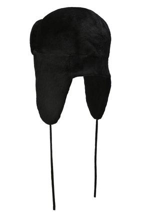 Мужская шапка-ушанка из меха норки KUSSENKOVV черного цвета, арт. 321510002241 | Фото 2 (Материал: Натуральный мех)