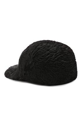 Мужской бейсболка из меха каракульчи KUSSENKOVV темно-серого цвета, арт. 387100020003 | Фото 2 (Материал: Натуральный мех)
