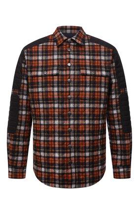 Мужская утепленная куртка DSQUARED2 оранжевого цвета, арт. S71DM0487/S54274 | Фото 1 (Длина (верхняя одежда): До середины бедра; Рукава: Длинные; Материал внешний: Шерсть; Материал подклада: Синтетический материал; Кросс-КТ: Куртка; Мужское Кросс-КТ: утепленные куртки; Стили: Гранж)