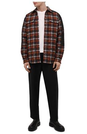 Мужская утепленная куртка DSQUARED2 оранжевого цвета, арт. S71DM0487/S54274 | Фото 2 (Длина (верхняя одежда): До середины бедра; Рукава: Длинные; Материал внешний: Шерсть; Материал подклада: Синтетический материал; Кросс-КТ: Куртка; Мужское Кросс-КТ: утепленные куртки; Стили: Гранж)