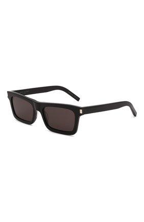 Женские солнцезащитные очки SAINT LAURENT черного цвета, арт. SL 461 001   Фото 1 (Тип очков: С/з; Очки форма: Квадратные)