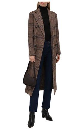 Женское шерстяное пальто RALPH LAUREN коричневого цвета, арт. 290858644 | Фото 2 (Длина (верхняя одежда): Длинные; Материал подклада: Вискоза; Материал внешний: Шерсть; Рукава: Длинные; Стили: Кэжуэл; 1-2-бортные: Двубортные)