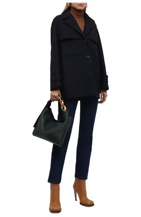 Женское кашемировое полупальто tedburn BURBERRY темно-синего цвета, арт. 8043141 | Фото 2 (Материал внешний: Кашемир, Шерсть; Рукава: Длинные; Длина (верхняя одежда): До середины бедра; Стили: Кэжуэл; 1-2-бортные: Однобортные)
