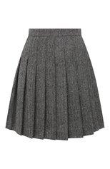 Женская шерстяная юбка DSQUARED2 разноцветного цвета, арт. S72MA0880/S39951 | Фото 1 (Длина Ж (юбки, платья, шорты): Мини; Материал внешний: Шерсть; Стили: Гламурный; Женское Кросс-КТ: Юбка-одежда, юбка-плиссе)