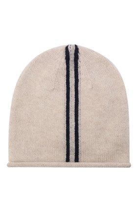 Детского кашемировая шапка OSCAR ET VALENTINE бежевого цвета, арт. BON15AS | Фото 1 (Материал: Кашемир, Шерсть)