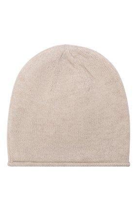 Детского кашемировая шапка OSCAR ET VALENTINE бежевого цвета, арт. BON15AS | Фото 2 (Материал: Кашемир, Шерсть)