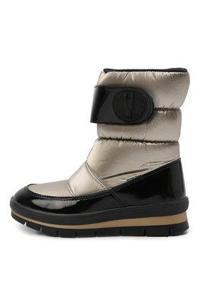Детские утепленные ботинки JOG DOG золотого цвета, арт. 13023R/ZAFFIR0 FLASH/29-35   Фото 2 (Материал внешний: Экокожа, Текстиль; Материал утеплителя: Шерсть)