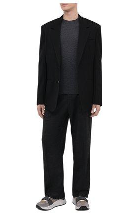 Мужские комбинированные кроссовки ramsey BURBERRY бежевого цвета, арт. 8045295 | Фото 2 (Материал внутренний: Натуральная кожа, Текстиль; Материал внешний: Текстиль; Подошва: Массивная; Стили: Классический)