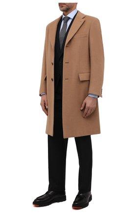 Мужские кожаные дерби W.GIBBS черного цвета, арт. 0128013/2516 | Фото 2 (Материал утеплителя: Натуральный мех; Стили: Классический)