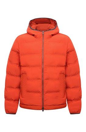 Мужская утепленная куртка Z ZEGNA оранжевого цвета, арт. VY011/ZZ082 | Фото 1 (Рукава: Длинные; Материал подклада: Синтетический материал; Материал внешний: Синтетический материал; Длина (верхняя одежда): Короткие; Кросс-КТ: Куртка; Мужское Кросс-КТ: пуховик-короткий; Стили: Кэжуэл)